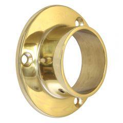 End Socket  / Flange - Polished Brass