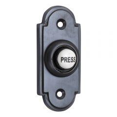 Stepped Matt Black Bell Push Button