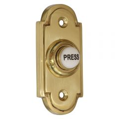 Polished Brass Stepped Bell Push