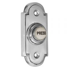 Polished Chrome Stepped Bell Push