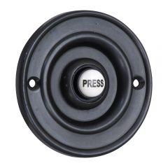 Round 76mm Bell Push - Matt Black