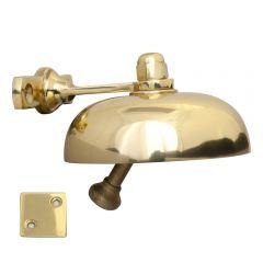 Domed Shop Bell - Polished Brass