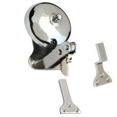 Domed Shop Bell - Polished Chrome