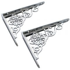 Ornate Shelf Bracket - Polished Chrome