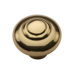 Swirl Cupboard Knob - Polished Brass
