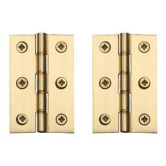 "Butt Hinge 76mm (3"") - Polished Brass"