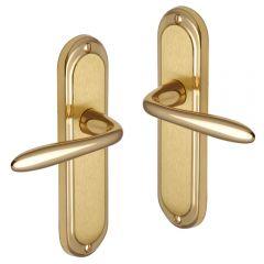 Door Handles - Polished Brass, Satin Brass