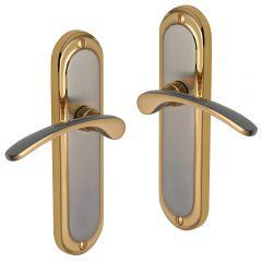 Door Handles - Satin Nickel, 24ct Gold plate