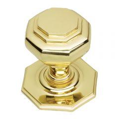 Octagonal - Polished Brass