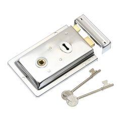 Rim Lock - Polished Chrome