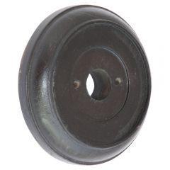Round Wooden Plinth - Dark Oak
