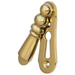 Large Lady Escutcheon / Keyhole Cover - Polished Brass