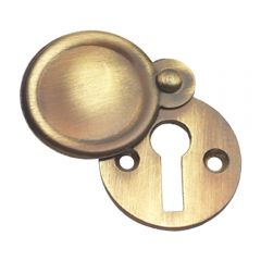 Plain Escutcheon / Keyhole Cover - Antique