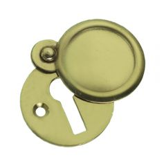 Plain Escutcheon / Keyhole Cover - Polished Brass