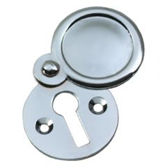 Plain Escutcheon / Keyhole Cover - Polished Chrome