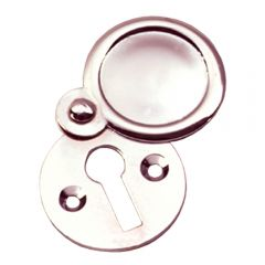 Plain Escutcheon / Keyhole Cover - Polished Nickel
