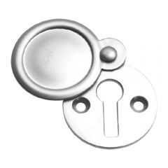 Plain Escutcheon / Keyhole Cover - Satin Chrome