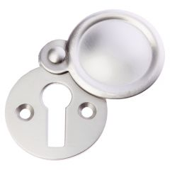 Plain Escutcheon / Keyhole Cover - Satin Nickel