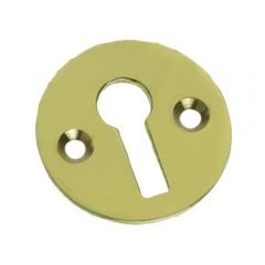 Plain Escutcheon / Keyhole - Polished Brass
