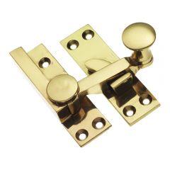 Quadrant Sash Fastener - Polished Brass