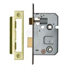 Mortice Bathroom Lock - Polished Brass