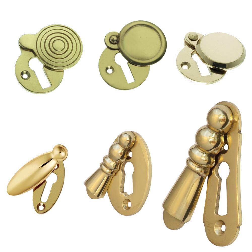 Escutcheons Keyhole Covers Brass Heavy Cast 6